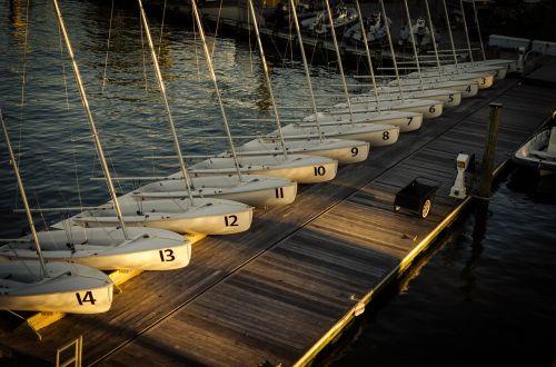 sail boats jetty regatta