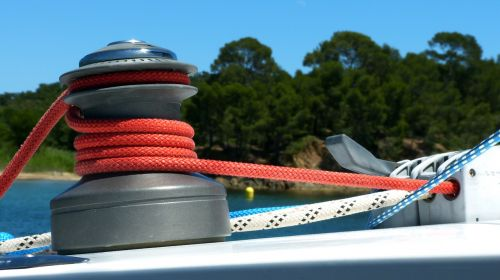 sailboat winch pulley