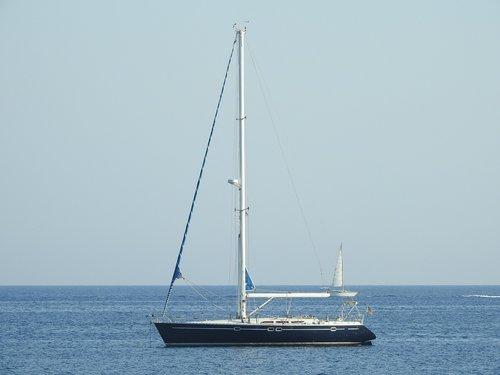 sailboat  ibiza  anchored