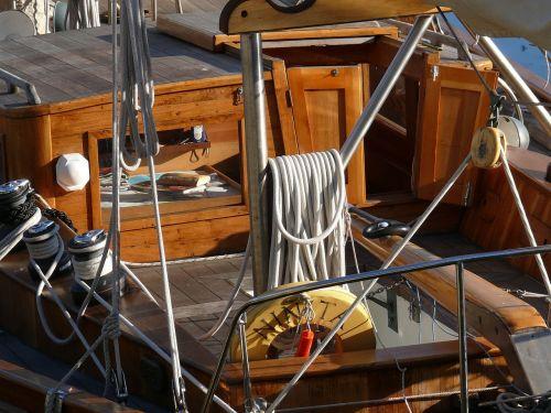 sailboat wood rope