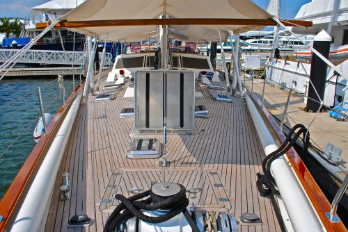 sailboat boat deck foredeck