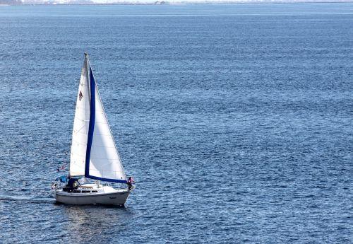sailboat sailing sea