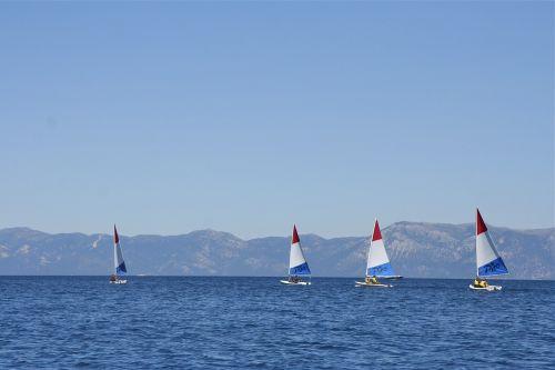 sailboats sails lake
