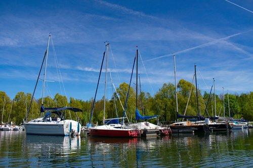 sailboats  spring  marina