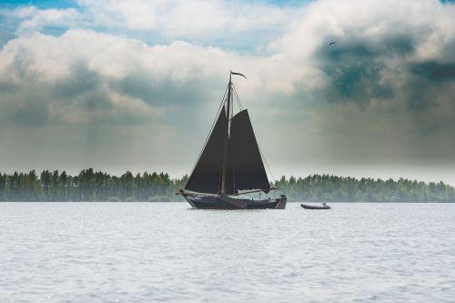 sailing boat lake