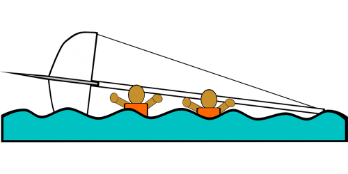 sailing boat capsized
