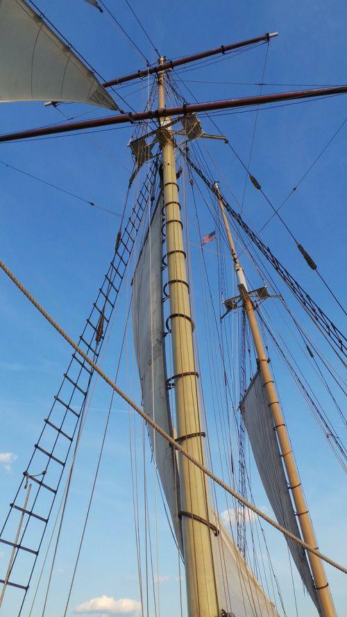 sailing mast sailing boat