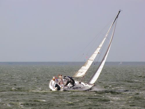 sailing boat sailing solo sailor