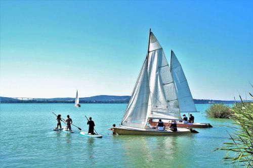 sailing boat ship balaton