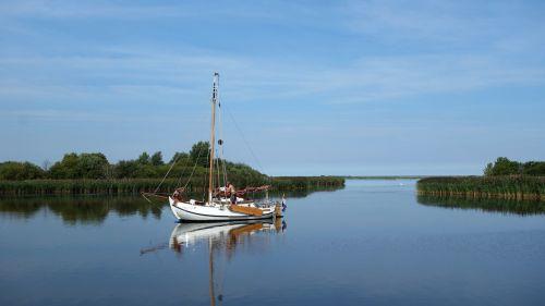 sailing boat serene water