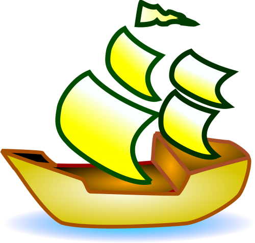 sailing boat pirate ship small