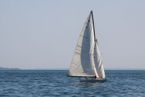 sailing boat water sports lake