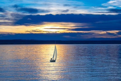 sailing boat lake sailing