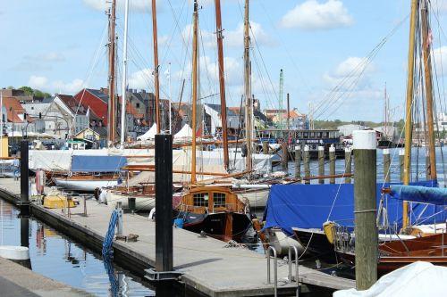 sailing boats port sea