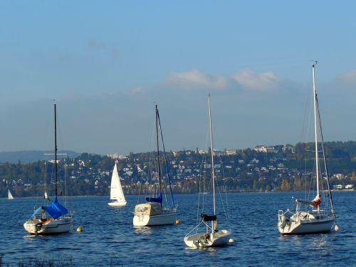 sailing boats lake constance water