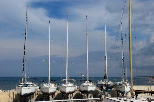 sailing boats ships port