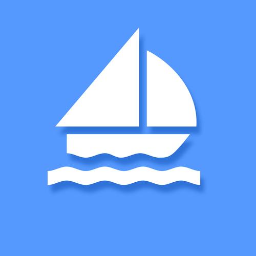 sailing icon  icon  blue