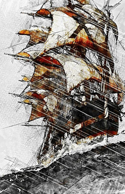 sailing ship mast boat