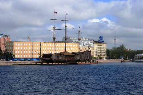 Sailing Ship On The Neva River