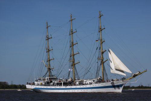 sailing vessel water three masted
