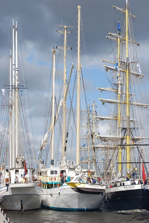 sailing vessel hanse sail rostock