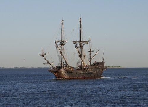 sailing vessel  galeon andalucia  sea