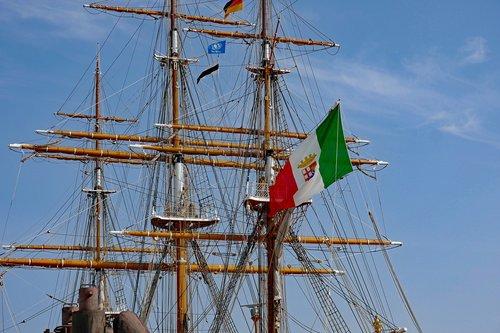 sailing vessel  sail training ship  amerigo vespucci
