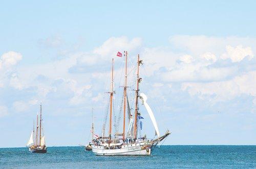sailing vessel  baltic sea  ship