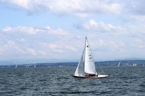 sailing vessel sail water