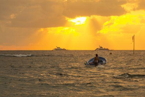 sailor fisherman boat