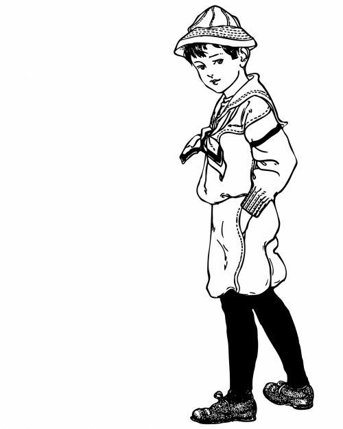 Sailor Boy Vintage Clipart