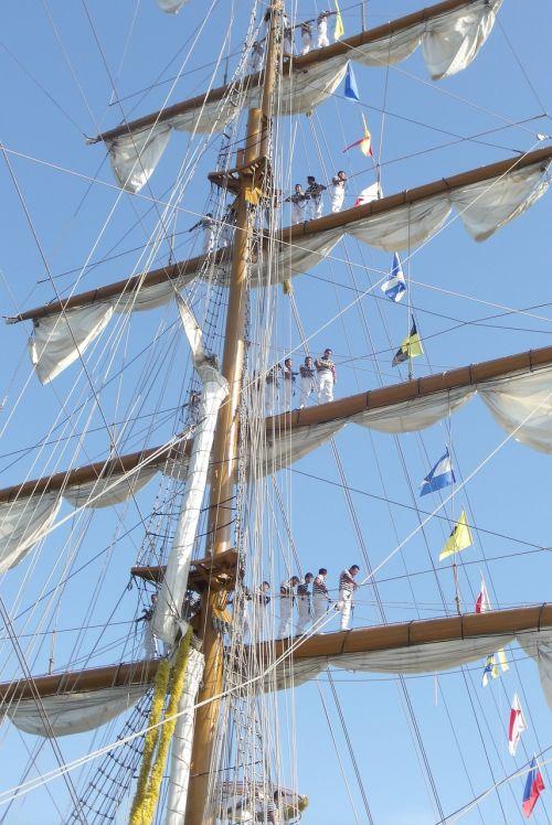 sailors sailboat boat