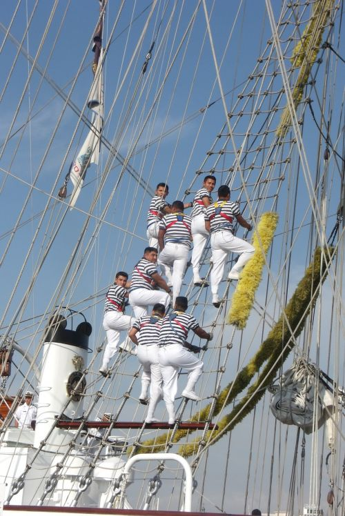 sailors troop farewell