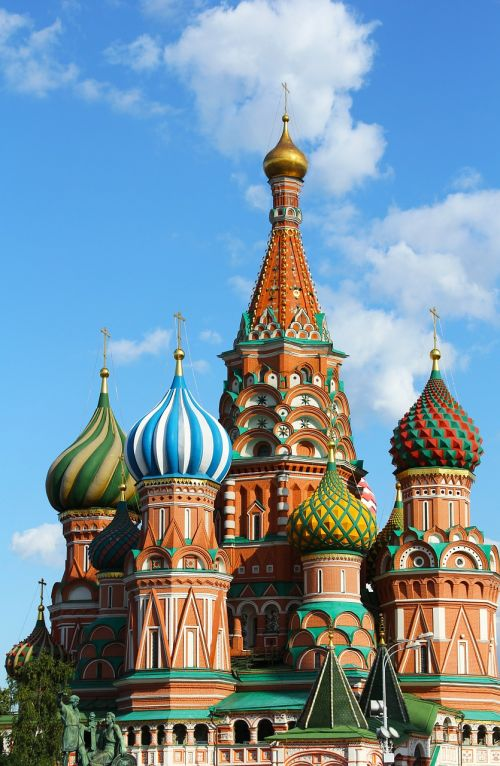 saint basil's cathedral cross blue