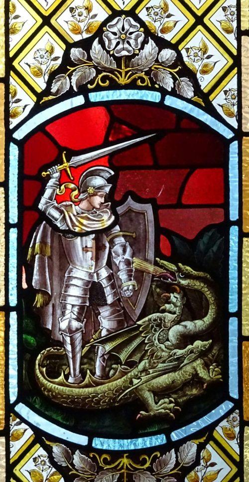 Saint George Slaying Dragon Window