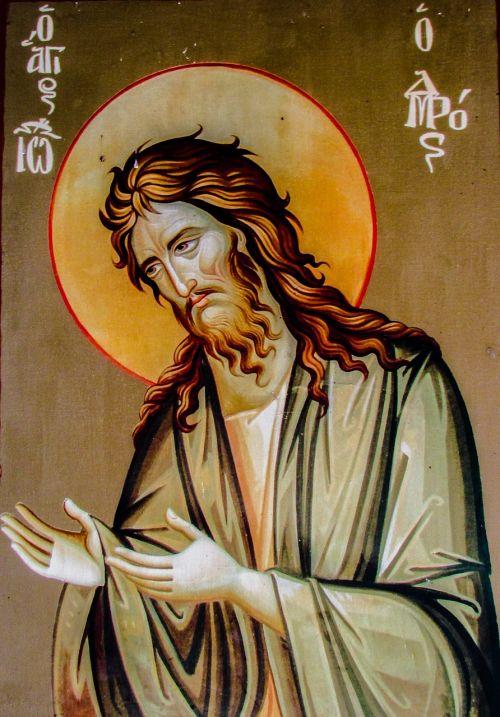 Šventasis Jonas Krikštytojas,piktograma,religija,bažnyčia,saint,ortodoksas,ikonografija,vienuolynas,Byzantine,viduramžių,architektūra,XIV amžius,Panagia stazousa,Kipras,prodromos