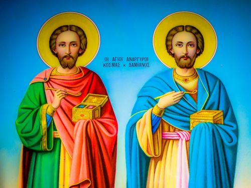 saint kosmas and saint damianos icon church
