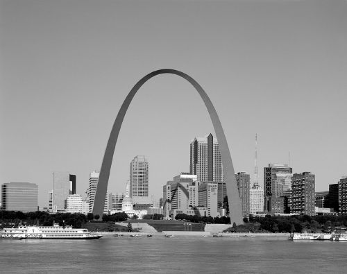 saint louis skyline gateway arch