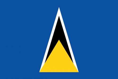 saint lucia flag national flag