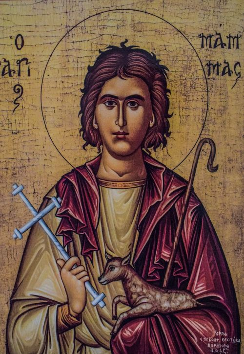 saint mamas icon painting