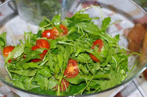 salad vegetables a bowl