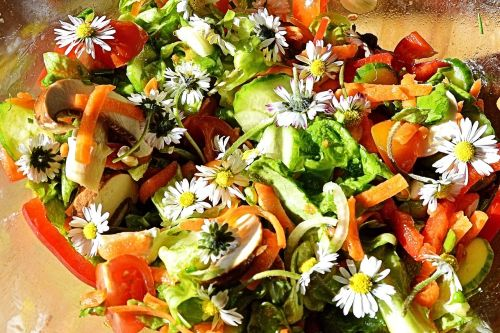 salad summer salad flowers