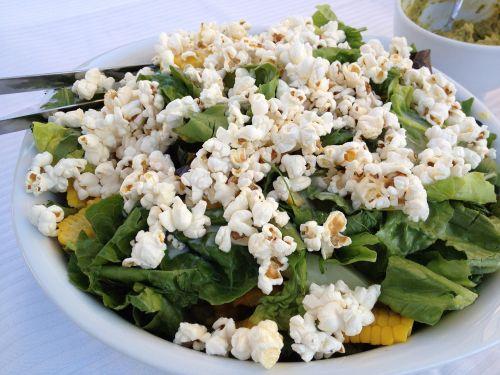 salad popcorn salad bowl of