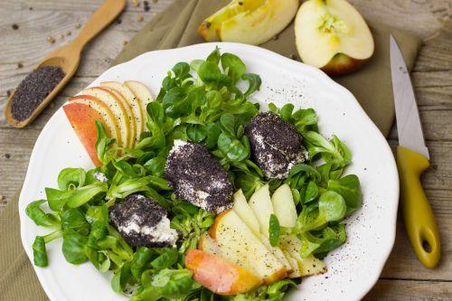 salad apple poppy