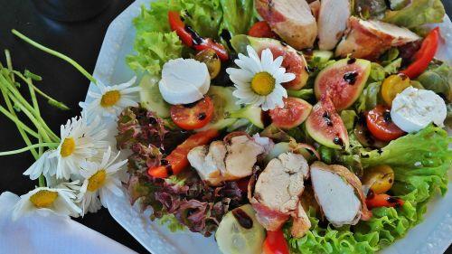 salad mixed salad chicken