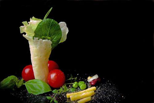 salad leaf lettuce parmesan wafers
