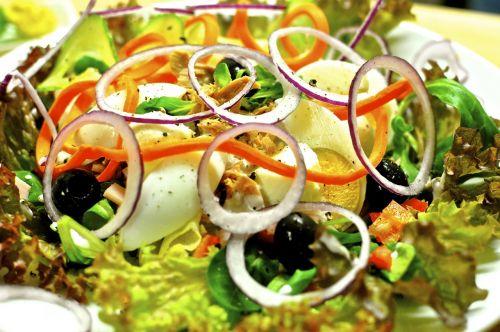 salad plate salad vitamins