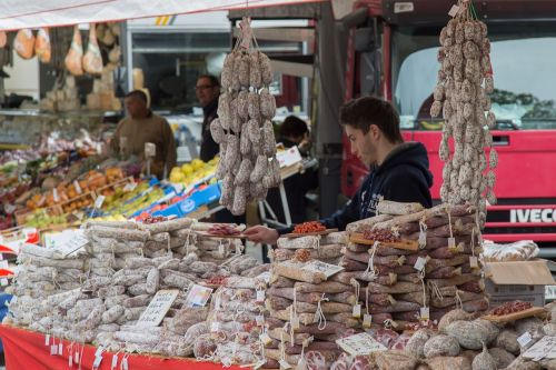 market salami sausage