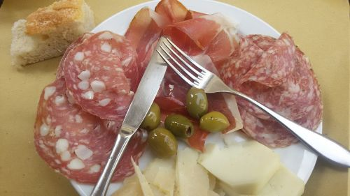 salami cold plate jause