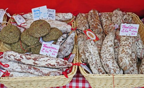 salami french market stall